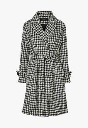 MANTEL PRINT LONG - Classic coat - black
