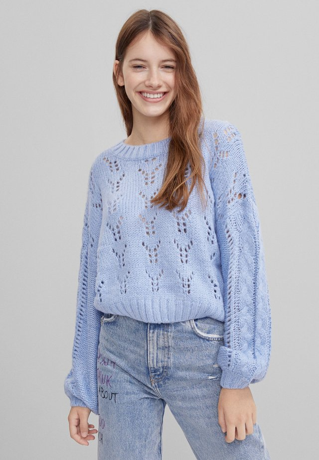MIT LOCHMUSTER  - Pullover - light blue
