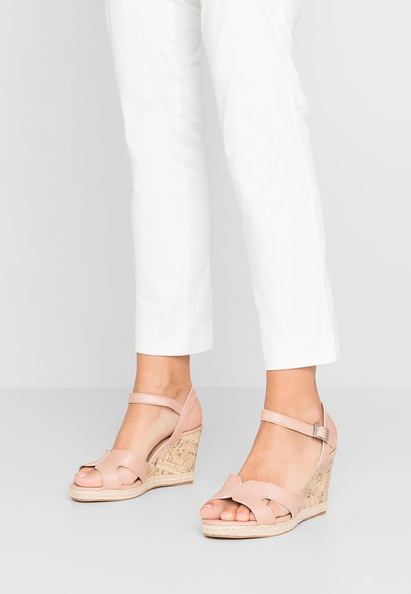 New Look Wide Fit - WIDE FIT POTTER - High heeled sandals - oatmeal