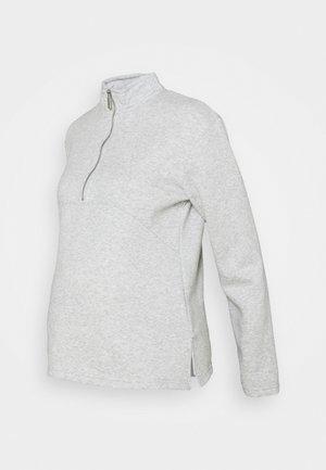 MATERNITY ZIP FRONT - Collegepaita - light grey marle