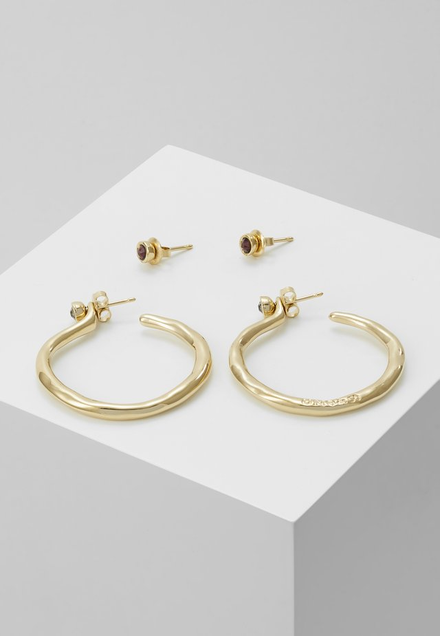 MY LUCK MEDIUM HOOP EARRING SET - Kolczyki - gold-coloured
