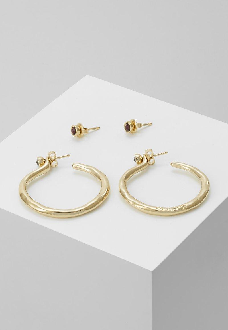 UNOde50 - MY LUCK MEDIUM HOOP EARRING SET - Náušnice - gold-coloured