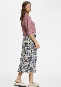 Soaked in Luxury - A-line skirt - vivid floral print white - 4