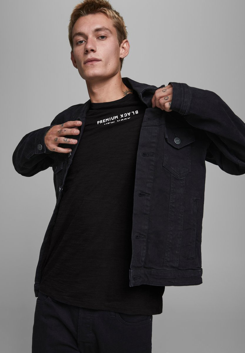 Jack & Jones PREMIUM Print T-shirt - black 0CpYs