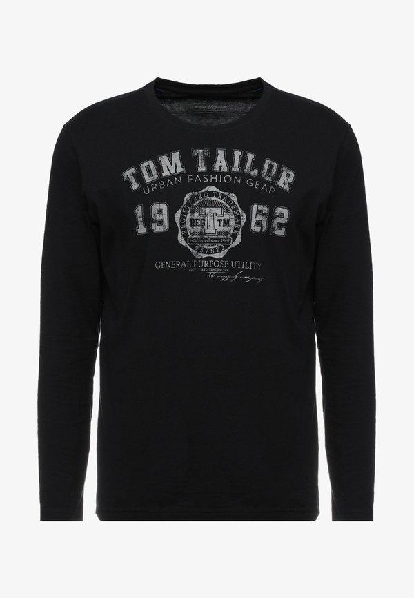 TOM TAILOR LONGSLEEVE PRINT TEE - Bluzka z długim rękawem - original/antracytowy Odzież Męska MCHN