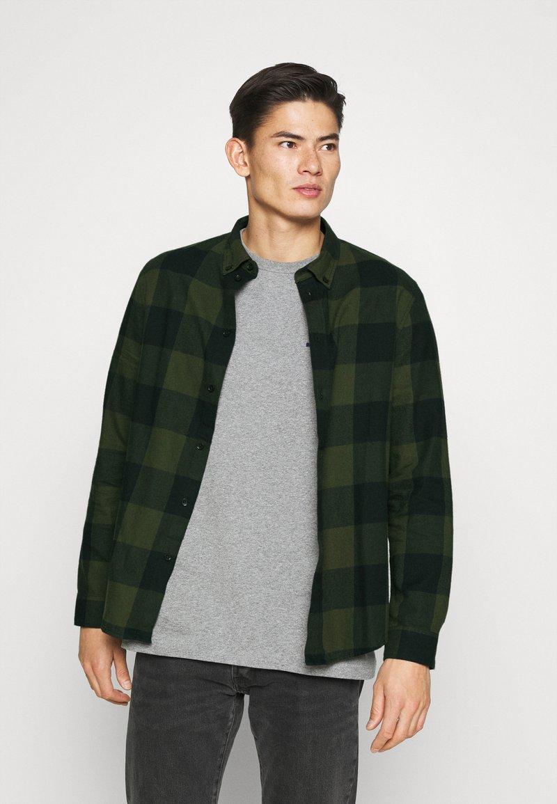 Pier One - Overhemd - oliv/ black