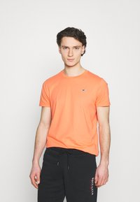 Hollister Co. - 7 Pack - T-shirt basique - white/soft red/orange/yellow/turquise/blue - 1