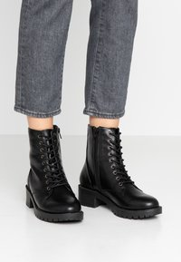 Bianco - BIACLAIRE - Lace-up ankle boots - black - 0