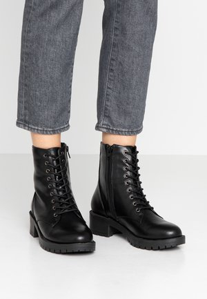 BIACLAIRE - Lace-up ankle boots - black