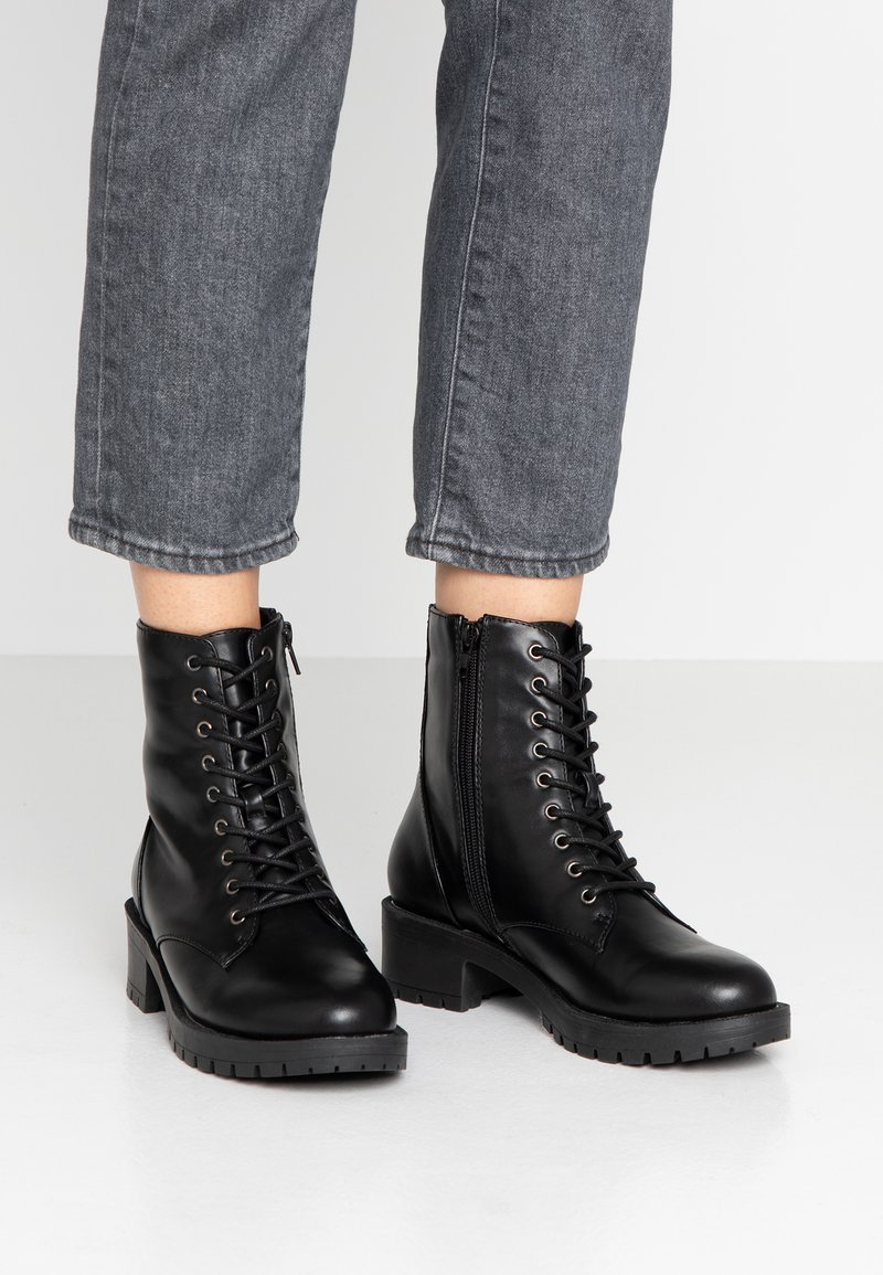 Bianco - BIACLAIRE - Lace-up ankle boots - black