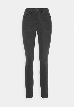 VMTILDE MR ANKLE ZIP - Slim fit jeans - medium grey denim