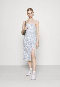 Hollister Co. - MIDI DRESS - Shift dress - white - 1