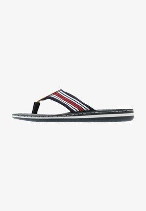 T-bar sandals - pazifik/amaretto/navy/weiß/rot