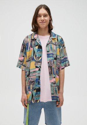 MIT FLECKENPRINT - Skjorta - blue