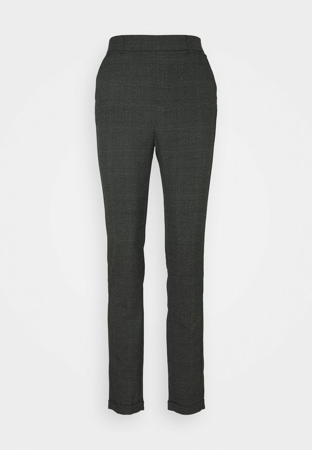 VMMAYA ALEC CHECK PANT - Broek - dark grey melange/black
