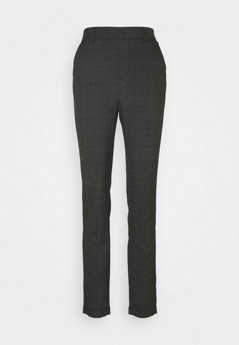 Vero Moda Tall - VMMAYA ALEC CHECK PANT - Kalhoty - dark grey melange/black