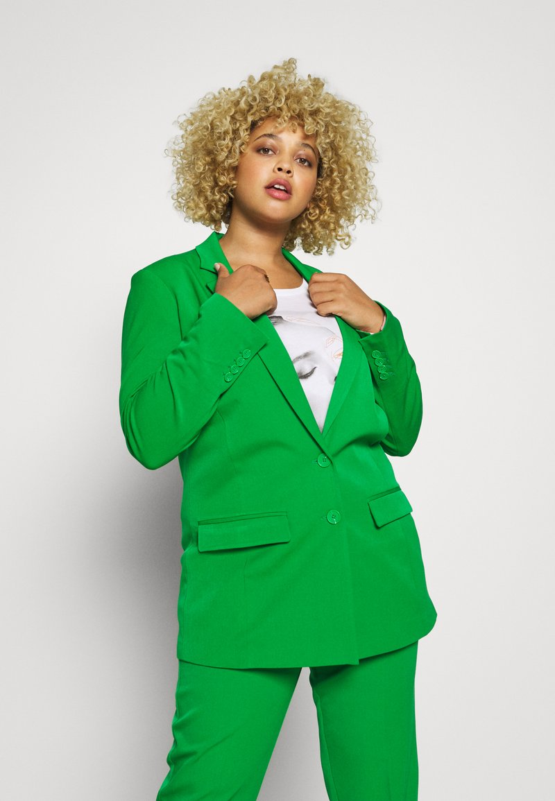 MY TRUE ME TOM TAILOR - WITH CONTRAST LINING - Short coat - gras green