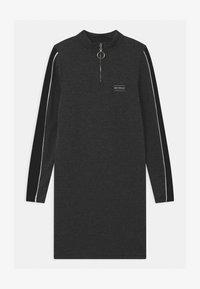 New Look 915 Generation - ZIP STRIPE - Jersey dress - grey - 0