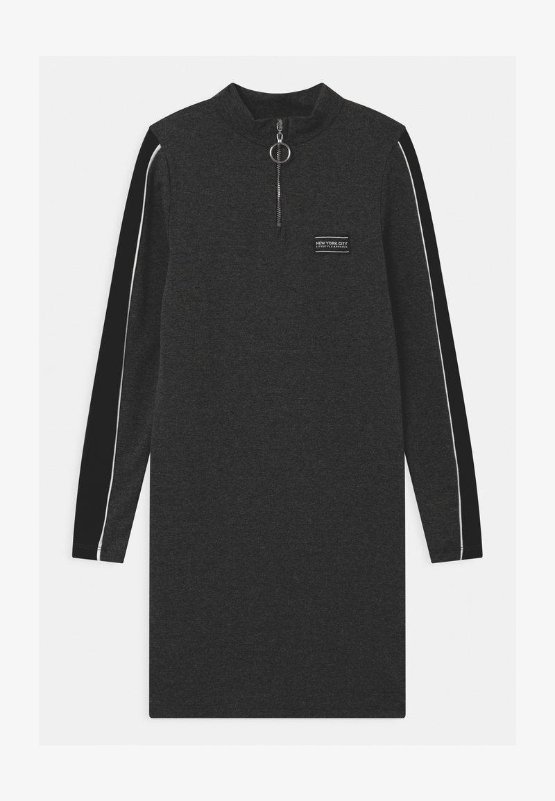 New Look 915 Generation - ZIP STRIPE - Jersey dress - grey