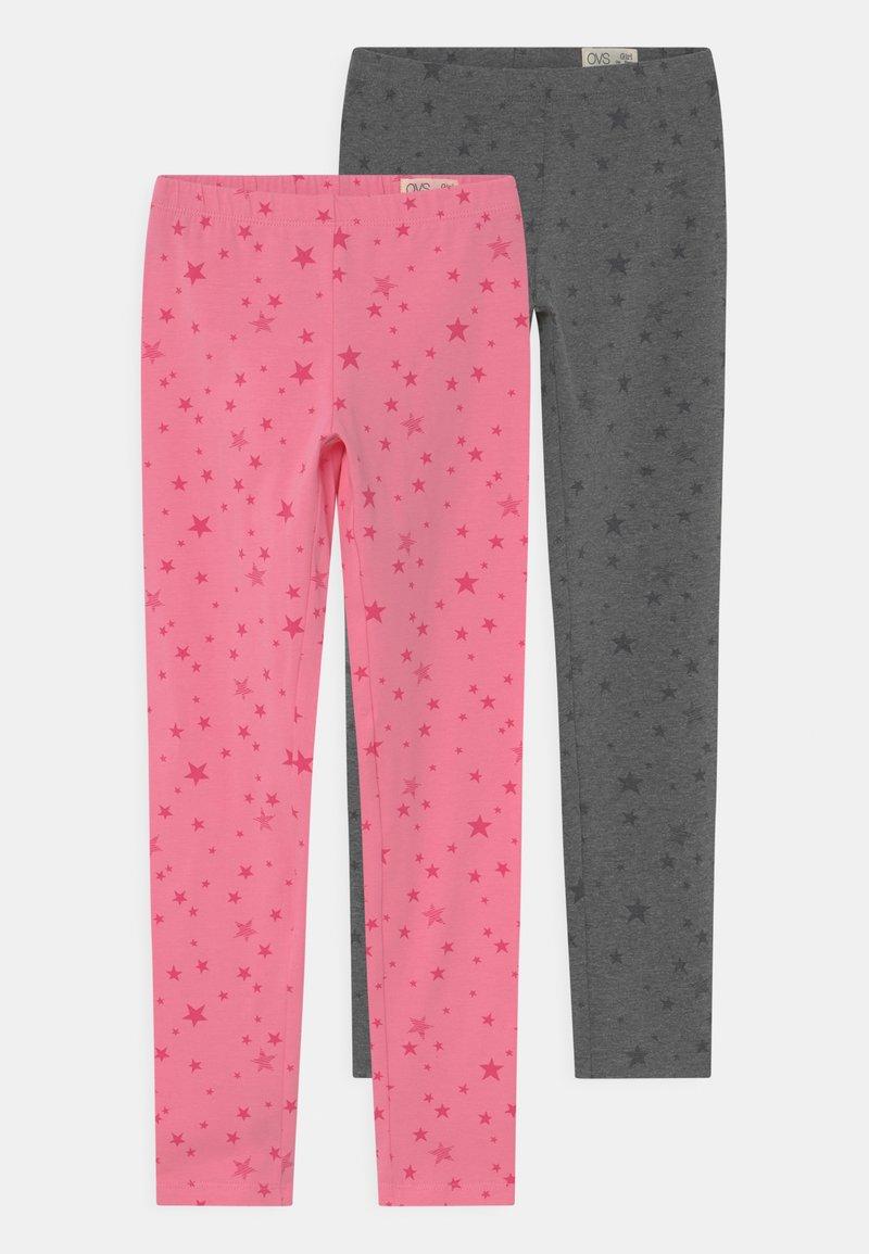 OVS - KID 2 PACK - Leggings - Trousers - morning glory/paloma