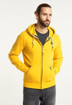 Zip-up hoodie - senf