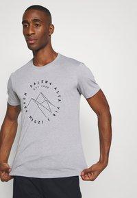 Salewa - ALTA VIA DRY TEE - T-shirt med print - heather grey - 3