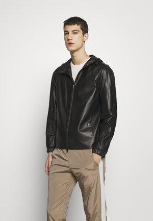 SANFORD - Leather jacket - black