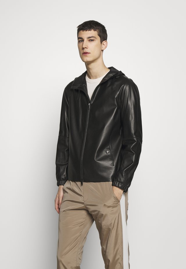 SANFORD - Leather jacket - black