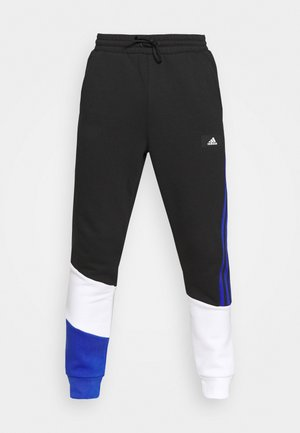 COLORBLOCK SEASONAL - Pantalones deportivos - black/bold blue
