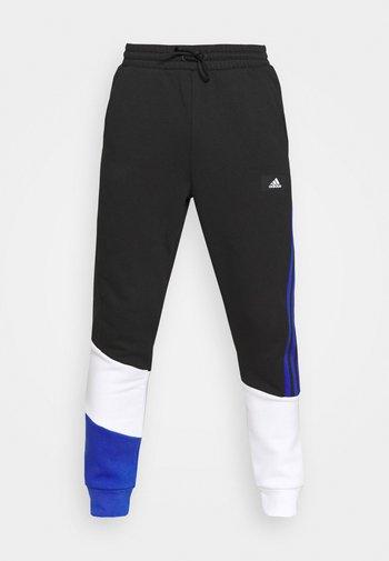 COLORBLOCK SEASONAL - Pantaloni sportivi - black/bold blue