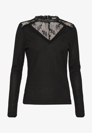 VIALBAS RIB - Long sleeved top - black