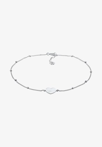 HEART LOVE ANKLET - Bracelet - silver-coloured