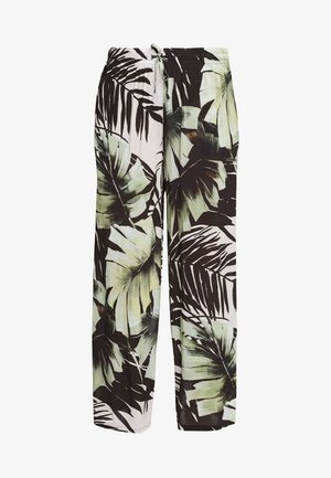Trousers - white/green