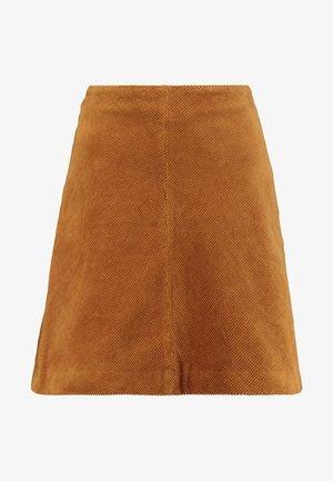 SKIRT SHORT - Áčková sukně - amber gold