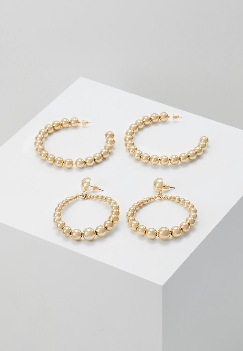 Missguided - BALL HOOP AND DROP 2 PACK - Earrings - gold-coloured