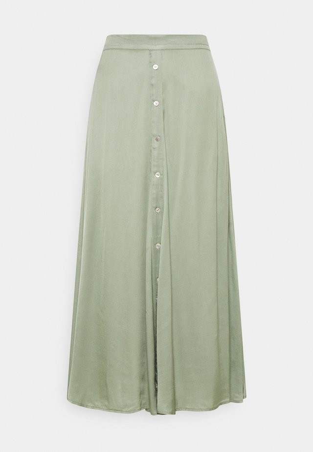 SKIRT BUTTONED CLOSURE - A-lijn rok - light green
