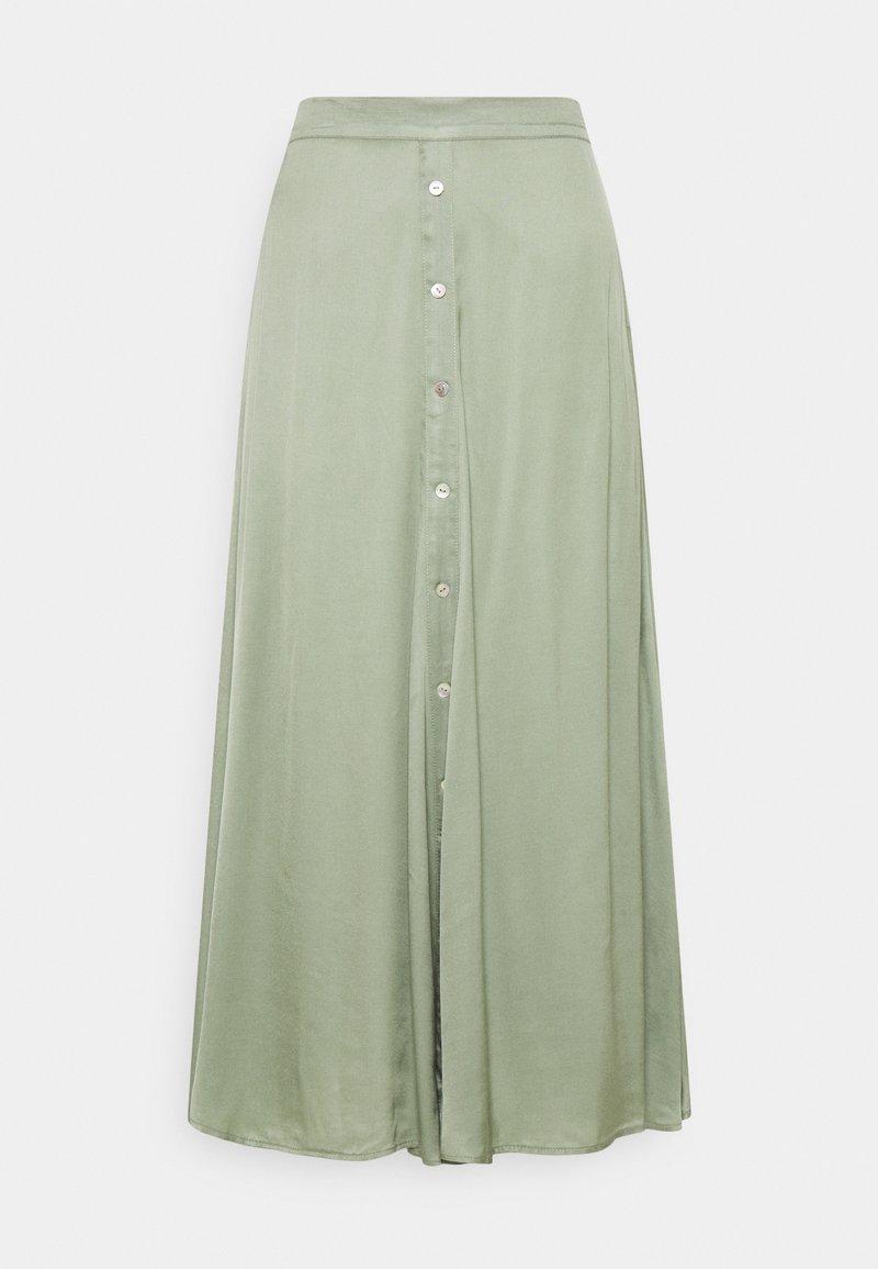 Esqualo - SKIRT BUTTONED CLOSURE - A-linjekjol - light green