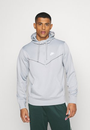 REPEAT HOODIE - Camiseta de manga larga - smoke grey/white