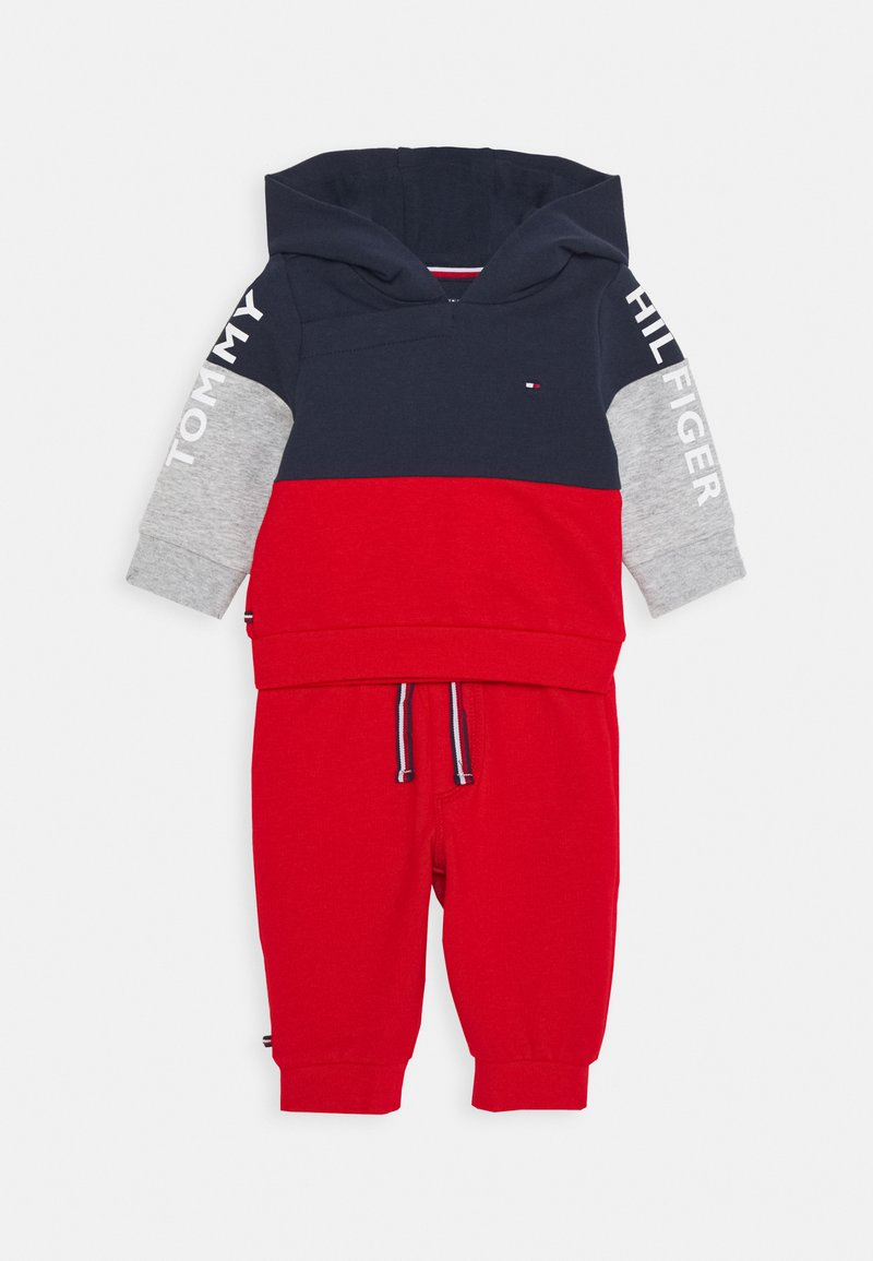 Tommy Hilfiger - BABY COLORBLOCK HOODIE SET - Sweatshirt - blue