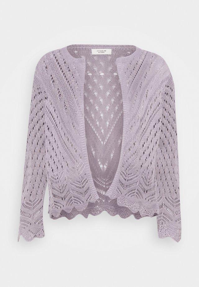 JDYSUN CROPPED CARDIGAN - Kardigan - lavender gray