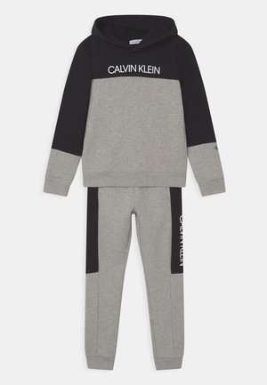 BLOCK HOODIE SET - Trainingsanzug - light grey heather