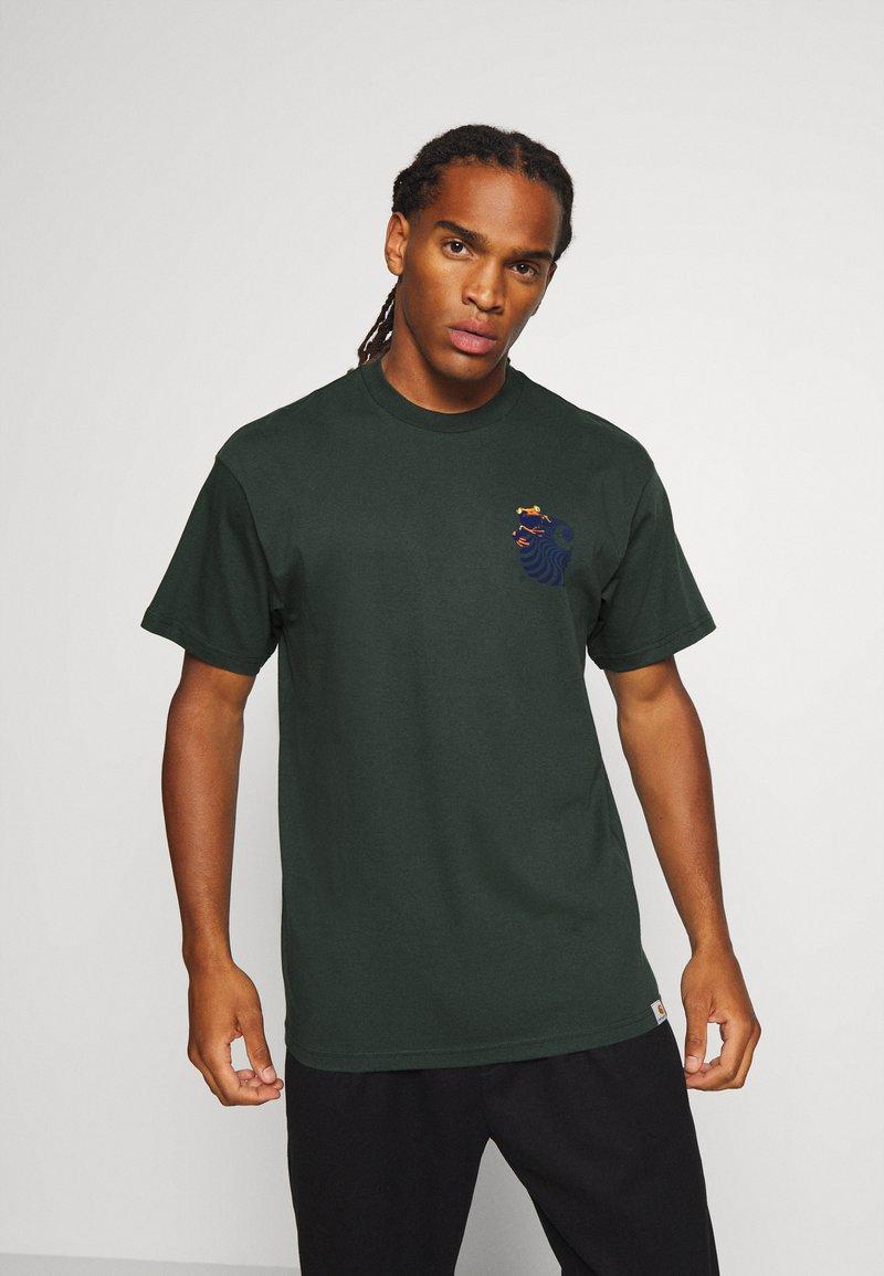 Carhartt WIP - SOCIETY - Print T-shirt - dark teal