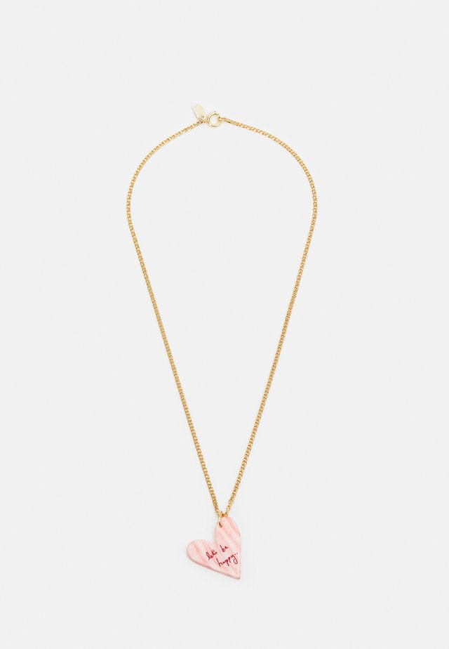 LET'S BE HAPPY NECKLACE - Náhrdelník - gold-coloured