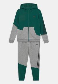 adidas Performance - WINTER SET - Chándal - collegiate green/medium grey heather/black - 0