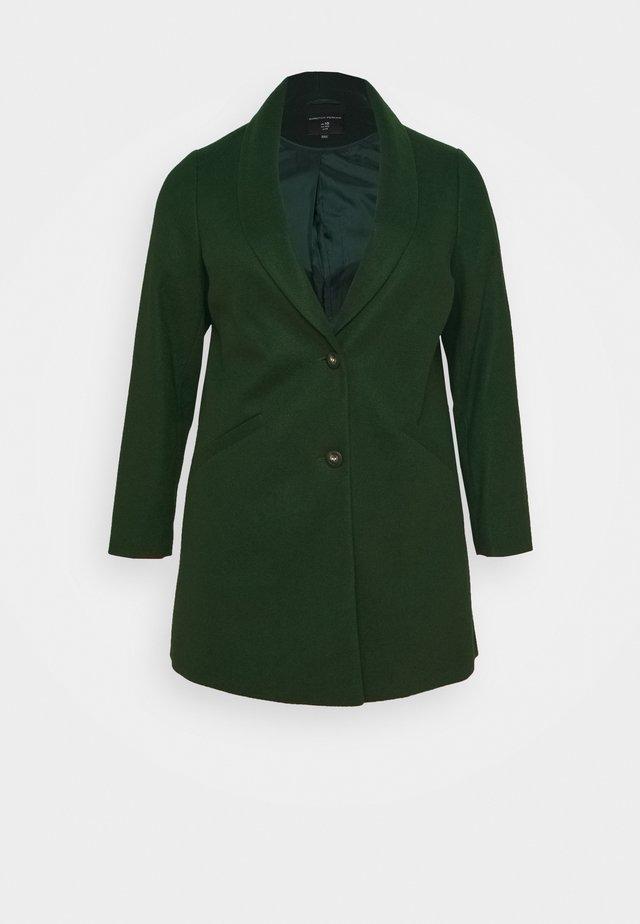 MINIMAL SHAWL COLLARCROMBIE COAT - Mantel - green
