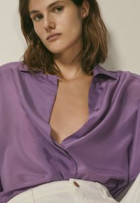 Massimo Dutti - Overhemdblouse - dark purple - 4