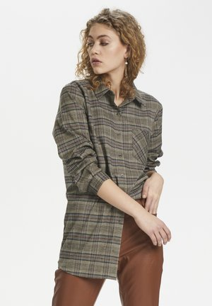 Button-down blouse - ermine