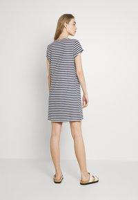Vila - VIMOONEY STRING - Jersey dress - navy blazer/white - 2