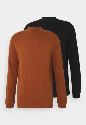 TURTLE 2 PACK - Camiseta de manga larga - black/burgundy