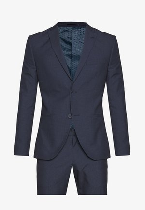 RECYCLED NAVY TEXTURE - Suit - dark blue